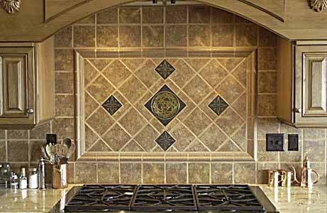 Celtic Bronze Tiles In Their Settings
